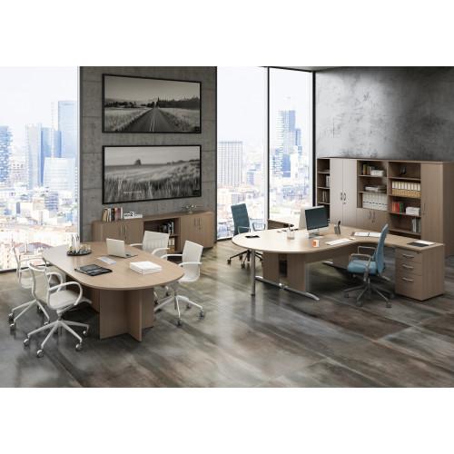 Tavolo riunioni ovale castellani shop for Tavolo ovale ufficio