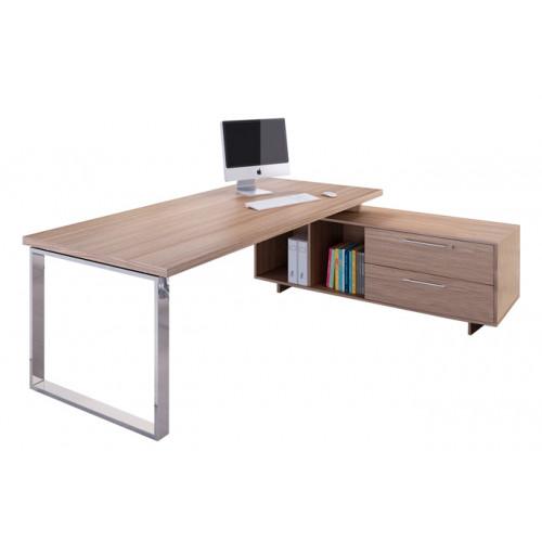 Scrivania direzionale con mobile di servizio castellani shop - Mobile con scrivania ...