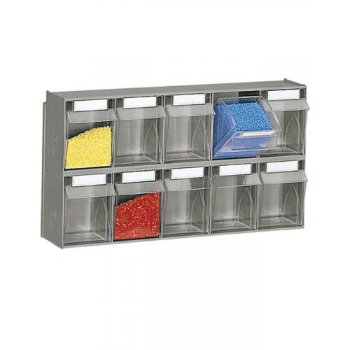 Cassetti In Plastica Componibili.Scaffalatura Practibox A Muro In Polipropilene Con Cassetti Estraibili Cm 60x15x32 8h