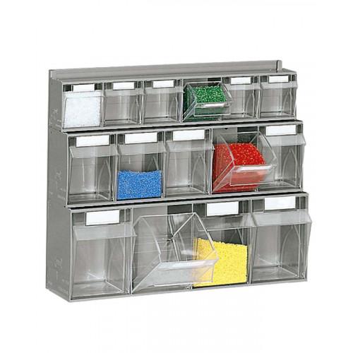 Cassettiere In Plastica Per Magazzino.Scaffalatura In Plastica Con Cassettiere Castellani Shop