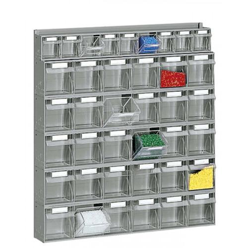 Scaffalature Con Cassetti.Scaffalatura Practibox In Plastica Con Cassetti Trasparenti Cm 60x10 7x65h