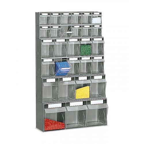 Cassetti In Plastica Componibili.Scaffale A Parete In Plastica Con Cassetti Portaminuteria Cm 60x22 4x100h