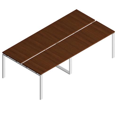 Tavolo riunione per conferenze e riunioni con gambe fisse di metallo ...