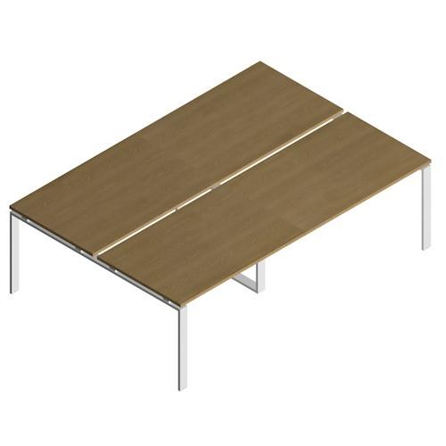 Tavolo per ufficio con gambe metalliche - Castellani Shop