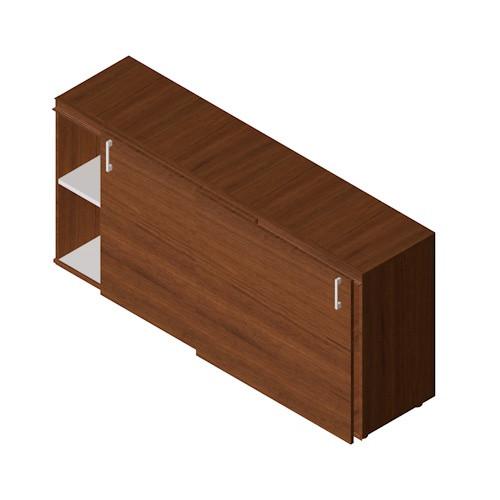 Mobile basso in legno da ufficio operativo castellani shop for Mobile ufficio ante scorrevoli