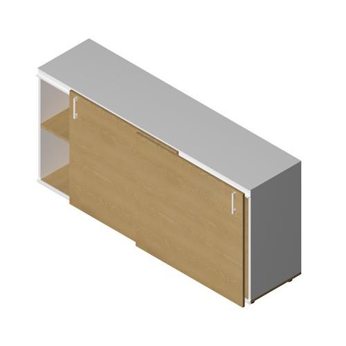 Mobile basso in legno da ufficio operativo - Castellani Shop