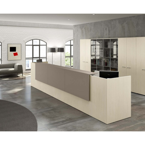 Reception in melamine for office