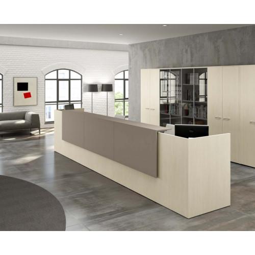 Reception ad angolo in melaminico da ufficio castellani shop for Reception ufficio