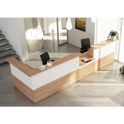 Reception in melaminico verniciato castellani shop for Reception da ufficio