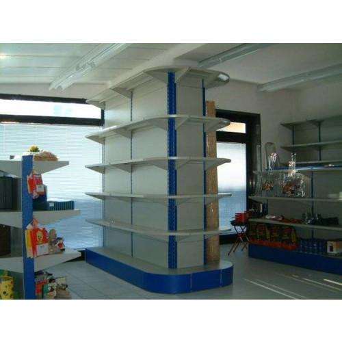 Scaffalatura da negozio in metallo centro stanza cm for 2 piani di costruzione di edifici in metallo