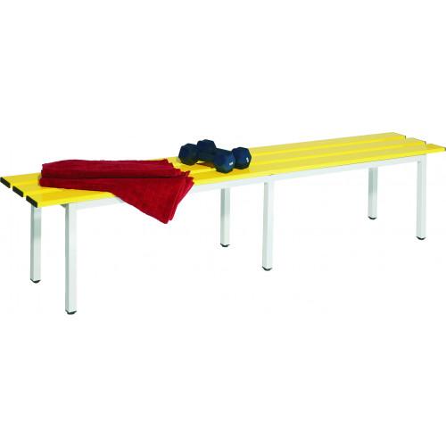 Panca da spogliatoio per 4 posti con doghe in alluminio di vari colori di cm 150 castellani shop - Panca da interno ...