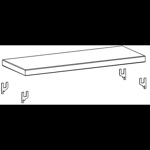 Piano verniciato aggiuntivo cm 100x30 da magazzino for Piano del magazzino