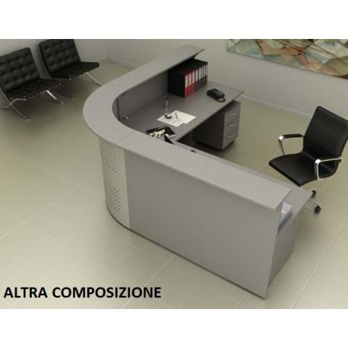 Reception ufficio senza cassettiere castellani shop for Scrivania da reception