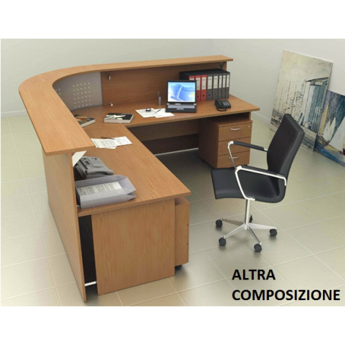 Reception ufficio senza cassettiere castellani shop for Reception ufficio