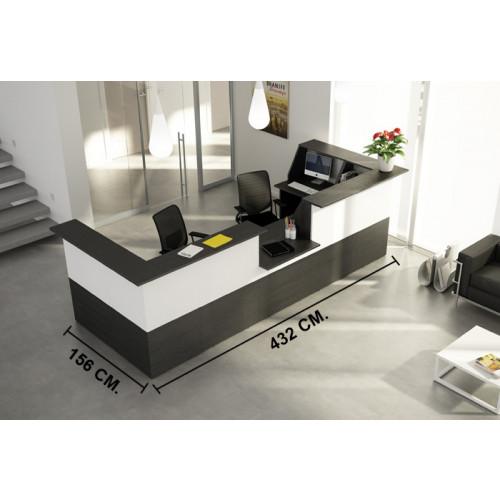 Reception in melaminico verniciato castellani shop for Reception per ufficio