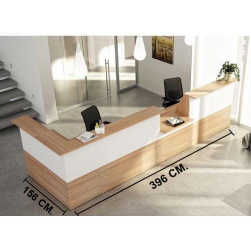 Reception in legno verniciato castellani shop for Reception per ufficio