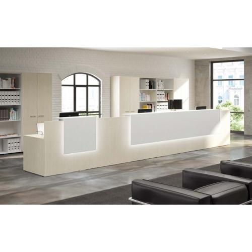 Reception angolare in melaminico da ufficio castellani shop for Reception per ufficio