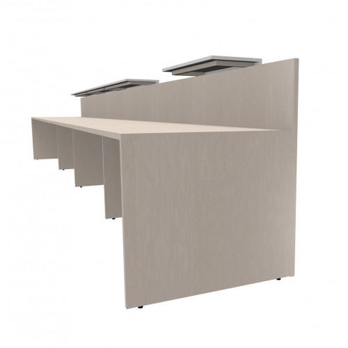 Reception lineare in melaminico da ufficio castellani shop for Mensole per ufficio