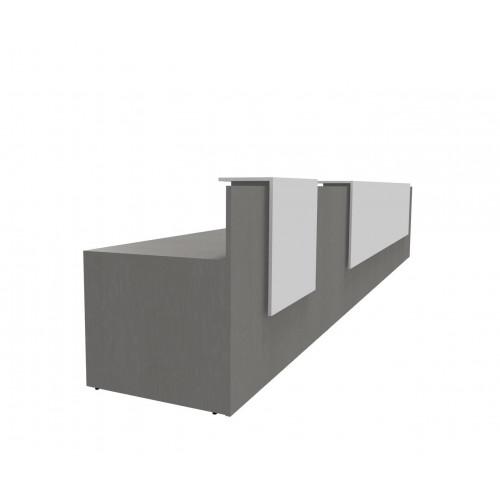 Mensole Rovere Grigio.Reception Lineare In Melaminico A Quattro Mensole Per Ufficio Cm 640x87x109h