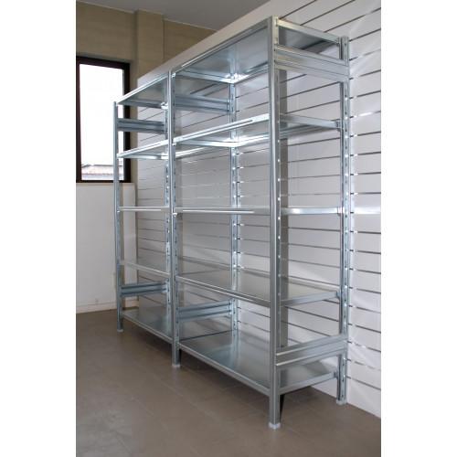 Modulo aggiuntivo scaffalatura metallica da magazzino for Ikea scaffali in metallo