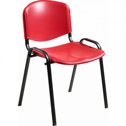 Seduta operativa in plastica su gambe fisse castellani shop for Sedia ufficio xxl