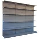 Modulo aggiuntivo per scaffalatura a parete da negozio di cm. 75x40x250h
