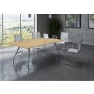 Tavolo per conferenze con gambe in metallo cm. 160x90x72h