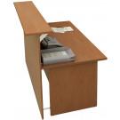 Bancone reception in melaminico verniciato per ufficio cm. 160x96,5x115h