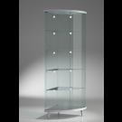 Vetrina espositiva con ripiani interni ad angolo e con faretti LED cm. 58x58x190h