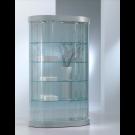 Vetrina semiovale con faretti LED e ripiani interni cm. 112x38x190h