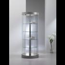 Vetrina da negozio con ripiani in cristallo girevoli motorizzati cm. 71x71x190h