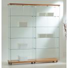 Vetrina per esposizione negozi con faretti interni cm. 157x40x181h