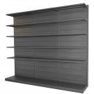 Modulo aggiuntivo scaffale in metallo verniciato nero ghisa a piani da negozio