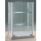 Vetrina da esposizione da banco in alluminio con piani regolabili cm. 40x25x60h