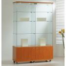 Vetrina per negozi con mobiletto basso e faretti cm. 117x40x181h