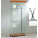Vetrina per esposizione per negozi con faretti e piani girevoli cm. 77x40x187h