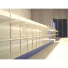 Modulo aggiuntivo scaffalatura in metallo per negozi di cm. 97x40x140h
