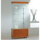 Vetrina da esposizione con faretti e mobile basso di legno cm. 77x40x187h