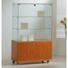 Vetrina da esposizione con mobile basso in legno cm. 80x40x130h