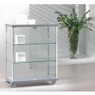 Vetrina esposizione rettangolare con profili alluminio e piani regolabili cm. 73x39x92h