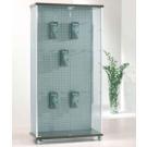 Vetrina per esposizione negozi con ruote e aggancio interno per blister cm. 93x39x183h