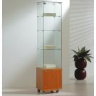 Vetrina per esposizione negozi con mobile in legno cm. 40x40x180h