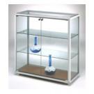 Vetrina espositiva bassa da negozio con 2 piani regolabili cm. 98x41,5x95h