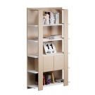 Libreria a giorno con struttura in melaminico cm. 100x38,6x198h