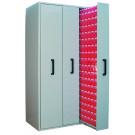 Armadio di metallo con cassetti interni per porta minuterie