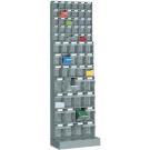 Scaffalatura per ferramenta in plastica a cassetti per minuterie cm. 60x32,5x197,6h