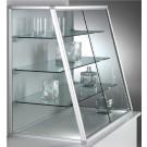 Vetrina con telaio in alluminio e ripiani interni regolabili per negozio cm. 119x50x100h