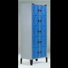 Armadio monoblocco a caselle colorate con ante in abs e struttura metallica cm. 70x47x180h