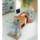 Banco vendita in vetro per esposizione articoli cm. 255x68/40x90h