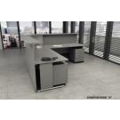 Composizione completa reception in melaminico verniciato cm. 256X256X115H